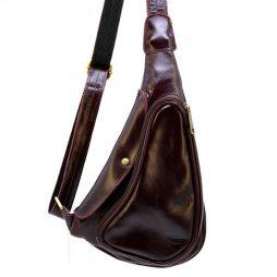 Мини-рюкзак из натуральной кожи на одно плечо GM-3026-3md TARWA - фото сумки 2