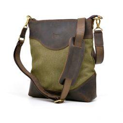 Сумка мужская из парусины и кожи RH-1807-4lx TARWA - фото сумки 2