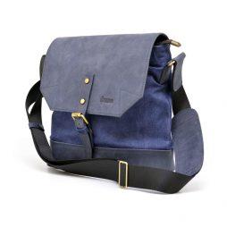 Сумка-мессенджер через плечо микс ткани канваз и кожи KK-1307-4lx от бренда TARWA - фото сумки 2