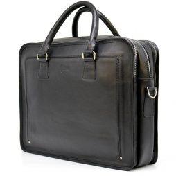 Деловая сумка-портфель из натуральной кожи TA-4666-4lx TARWA - фото сумки 2