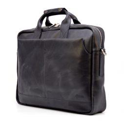 "Мужская сумка для ноутбука 17"" из натуральной кожи RA-1019-4lx от TARWA - фото сумки 2"