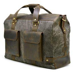 Дорожная стильная сумка парусина+кожа RG-4353-4lx TARWA - фото сумки 2