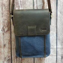 Сумка через плечо канвас + кожа RK-3938-4lx Tarwa - фото сумки 2