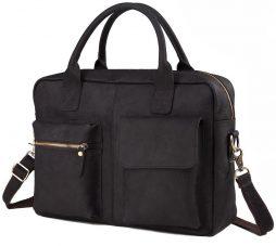 Фотография - Мужская кожаная сумка TIDING BAG GB331-1A - номер 4