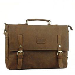 Фотография - Мужской кожаный портфель TIDING BAG t0020 - номер 4