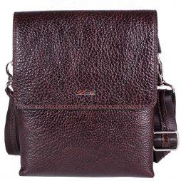 Барсетка кожа мягкая DESISAN 1463-019 коричневый флотар - картинка 5