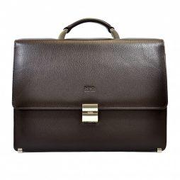 Портфель кожа BOND 1215-286 коричневый флотар - картинка 6