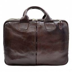 Портфель кожа Desisan 052-019 коричневый флотар - картинка 6