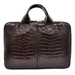Портфель кожа Desisan 052-19 коричневый кроко - картинка 6