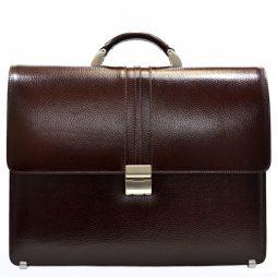 Портфель кожа Desisan 317-019 коричневый флотар - картинка 1