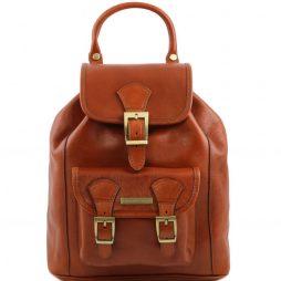 Сумка Tuscany Leather TL141342 Kobe - Кожаный рюкзак (Цвет - Мед) - картинка 1