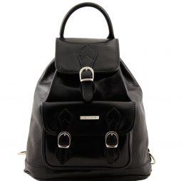 Сумка Tuscany Leather TL9039 Singapore - Кожаный рюкзак (Цвет - Черный) - картинка 1