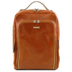 Сумка Tuscany Leather TL141793 Bangkok - Кожаный рюкзак для ноутбука с отделением впереди (Цвет - Мед) - картинка 1