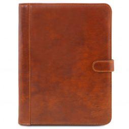 Сумка Tuscany Leather TL141275 Adriano - Кожаная папка для документов на кнопке (Цвет - Мед) - картинка 1