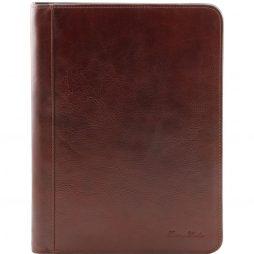 Сумка Tuscany Leather TL141293 Lucio - Эксклюзивная кожаная папка для документов с кольцами (Цвет - Коричневый) - картинка 1