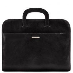 Сумка Tuscany Leather TL141022 Sorrento - Кожаный портфель для документов (Цвет - Черный) - картинка 1