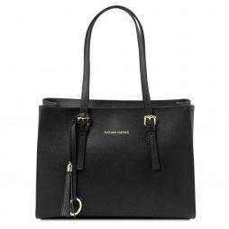 Сумка Tuscany Leather TL141518 TL Bag - Saffiano leather handbag (Цвет - Черный) - картинка 1