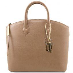 Сумка Tuscany Leather TL141261 TL KeyLuck - Сумка-тоут из кожи Саффьяно (Цвет - Карамель) - картинка 1