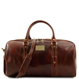 Сумка Tuscany Leather TL140935 Francoforte - Дорожная кожаная сумка weekender - Маленький размер (Цвет - Коричневый) - картинка 1