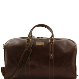 Сумка Tuscany Leather FC140860 Francoforte - Дорожная кожаная сумка weekender - Большой размер (Цвет - Темно-коричневый) - картинка 1