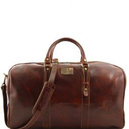 Сумка Tuscany Leather FC140860 Francoforte - Дорожная кожаная сумка weekender - Большой размер (Цвет - Коричневый) - картинка 1