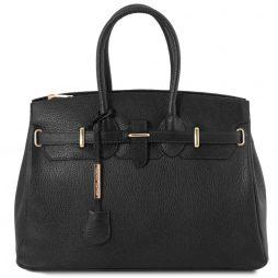 Сумка Tuscany Leather TL141529 TL Bag - Кожаная сумка с золотистой фурнитурой (Цвет - Черный) - картинка 1