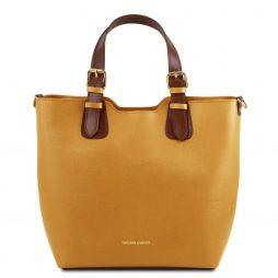 Сумка Tuscany Leather TL141696 TL Bag - Сумка-тоут из кожи Саффьяно (Цвет - Горчичный) - картинка 1
