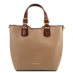 Сумка Tuscany Leather TL141696 TL Bag - Сумка-тоут из кожи Саффьяно (Цвет - Карамель) - картинка 1