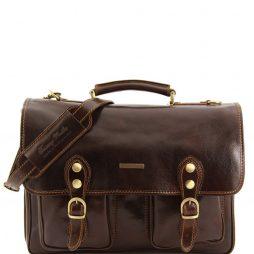 Сумка Tuscany Leather TL100310 Modena - Кожаный портфель на 2 отделения - Большой размер (Цвет - Темно-коричневый) - картинка 1