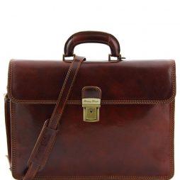 Сумка Tuscany Leather TL10018 Parma - Кожаный портфель на 2 отделения (Цвет - Коричневый) - картинка 1