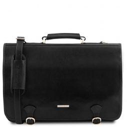 Сумка Tuscany Leather TL141853 Ancona - Кожаная сумка-мессенджер (Цвет - Черный) - картинка 1