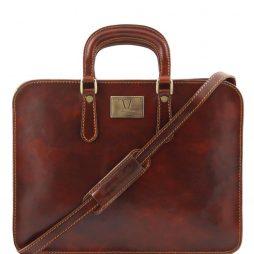 Сумка Tuscany Leather TL140961 Alba - Женский кожаный портфель с одним оделением (Цвет - Коричневый) - картинка 1
