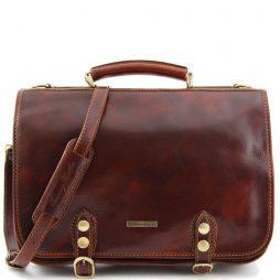 Сумка Tuscany Leather TL10068 Capri - Кожаная сумка-мессенджер на два отделения (Цвет - Коричневый) - картинка 1