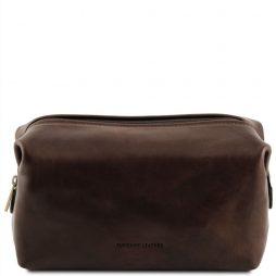 Сумка Tuscany Leather TL141219 Smarty - Кожаная косметичка - Большой размер (Цвет - Темно-коричневый) - картинка 1