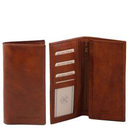 Сумка Tuscany Leather TL140777 Эксклюзивный вертикальный кожаный бумажник двойного сложения (Цвет - Коричневый) - картинка 1