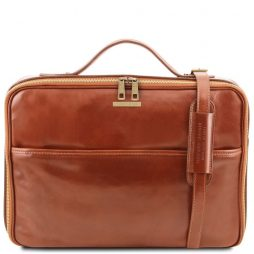 Сумка Tuscany Leather TL141240 Vicenza - Leather laptop briefcase with zip closure (Цвет - Мед) - картинка 1