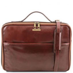 Сумка Tuscany Leather TL141240 Vicenza - Leather laptop briefcase with zip closure (Цвет - Коричневый) - картинка 1