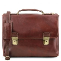 Сумка Tuscany Leather TL141662 Trieste - Exclusive leather laptop case with 2 compartments (Цвет - Коричневый) - картинка 1