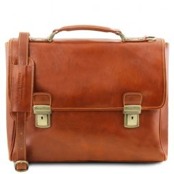 Сумка Tuscany Leather TL141662 Trieste - Exclusive leather laptop case with 2 compartments (Цвет - Мед) - картинка 1