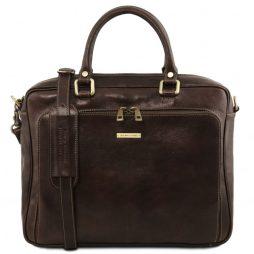 Сумка Tuscany Leather TL141660 Pisa - Кожаный портфель для ноутбука с передним карманом (Цвет - Темно-коричневый) - картинка 1