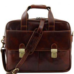 Сумка Tuscany Leather TL140889 Reggio Emilia - Эксклюзивная кожаная сумка для ноутбука (Цвет - Коричневый) - картинка 1