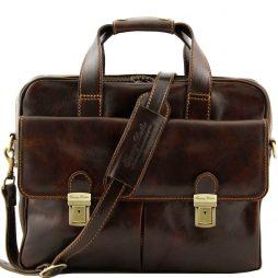 Сумка Tuscany Leather TL140889 Reggio Emilia - Эксклюзивная кожаная сумка для ноутбука (Цвет - Темно-коричневый) - картинка 1