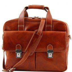 Сумка Tuscany Leather TL140889 Reggio Emilia - Эксклюзивная кожаная сумка для ноутбука (Цвет - Мед) - картинка 1