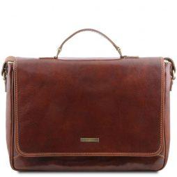 Сумка Tuscany Leather TL140891 Padova - Эксклюзивная кожаная сумка для ноутбука (Цвет - Коричневый) - картинка 1