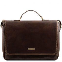 Сумка Tuscany Leather TL140891 Padova - Эксклюзивная кожаная сумка для ноутбука (Цвет - Темно-коричневый) - картинка 1