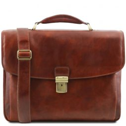 Сумка Tuscany Leather TL141448 Alessandria - Leather multi compartment TL SMART laptop briefcase (Цвет - Коричневый) - картинка 1
