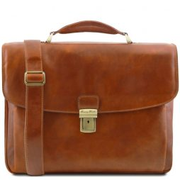 Сумка Tuscany Leather TL141448 Alessandria - Leather multi compartment TL SMART laptop briefcase (Цвет - Мед) - картинка 1