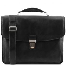 Сумка Tuscany Leather TL141448 Alessandria - Leather multi compartment TL SMART laptop briefcase (Цвет - Черный) - картинка 1