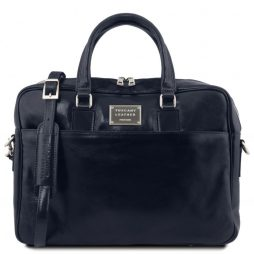 Сумка Tuscany Leather TL141241 Urbino - Кожаный портфель для ноутбука с передним карманом (Цвет - Темно-синий) - картинка 1
