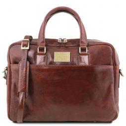Сумка Tuscany Leather TL141241 Urbino - Кожаный портфель для ноутбука с передним карманом (Цвет - Коричневый) - картинка 1